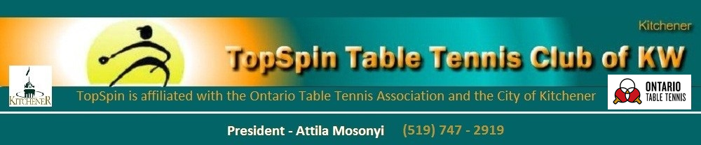 Topspin Table Tennis Of Kitchener Waterloo Associated With Otta